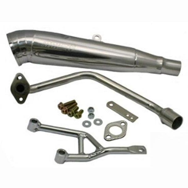 Honda Ruckus Stainless GP Exhaust for OEM Motor 49cc 16mm Header