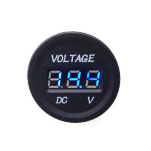 DC 12V LED Digital Display Voltmeter Waterproof BLUE
