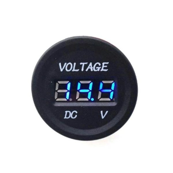 DC 12V LED Digital Display Voltmeter Waterproof BLUE