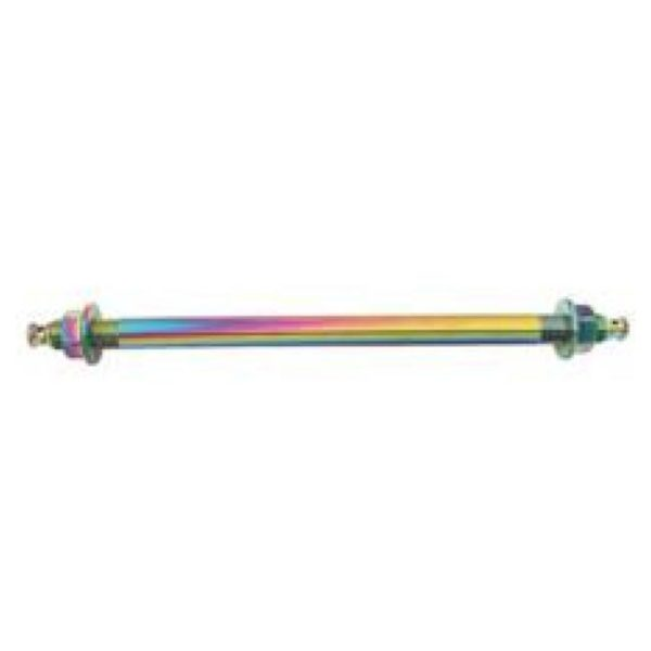 NCY 12MM X 250MM NEO CHROME FRONT AXLE FOR RUCKUS DISC KITS
