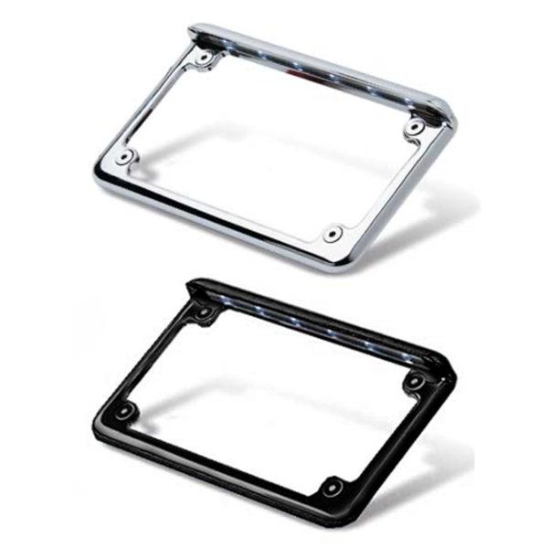 Led-Licence-plate-frame-in-chrome-or-black